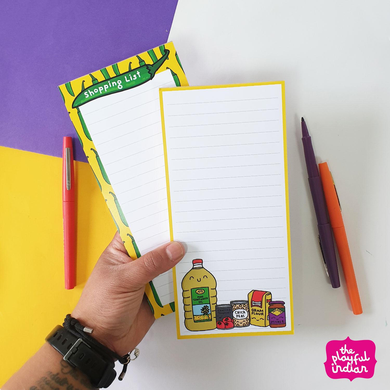Desi Cupboard Essentials List Pad