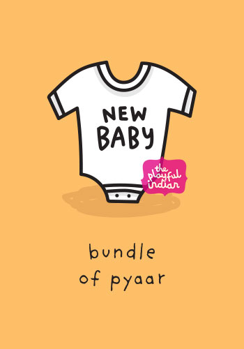 indian baby card