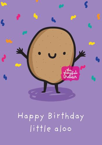 indian birthday card