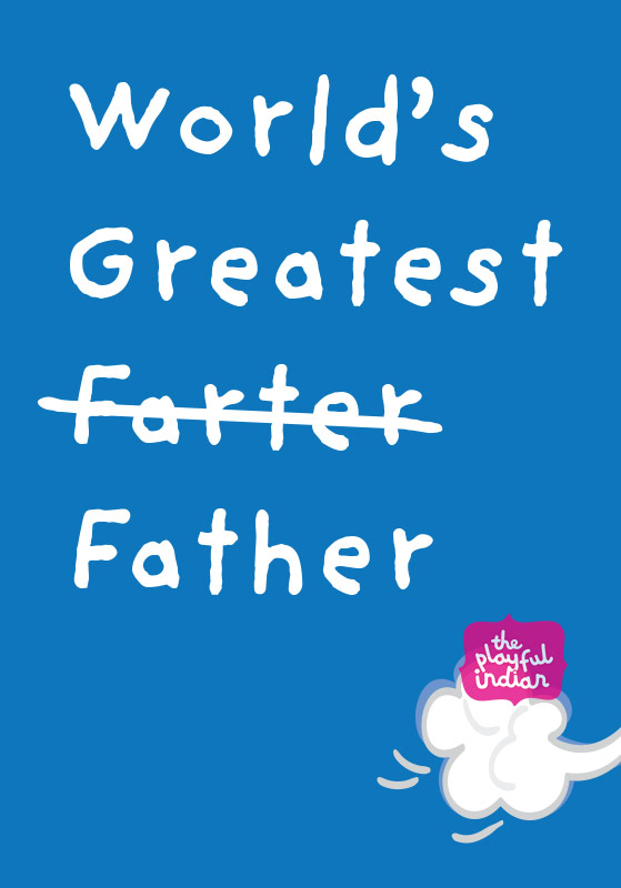 funny fathers day / birthday card