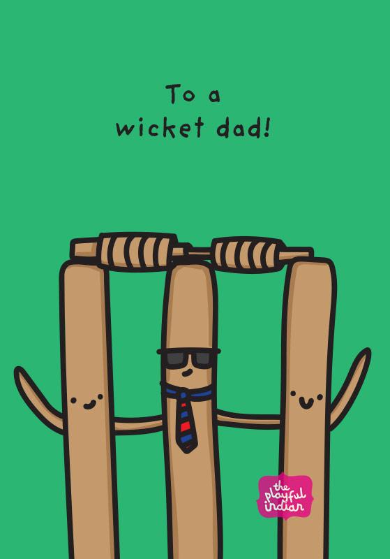 wicket dad card