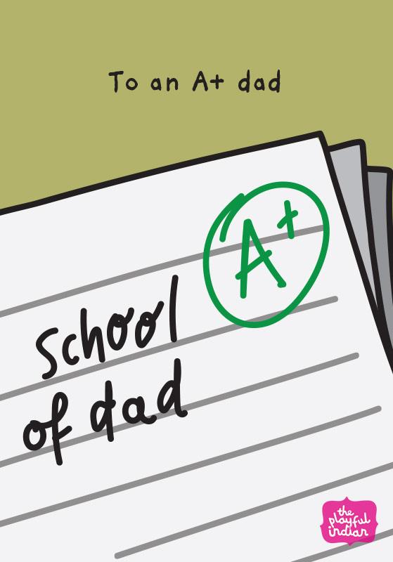 school of dad card