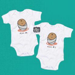 kids/baby clothing twins aloo
