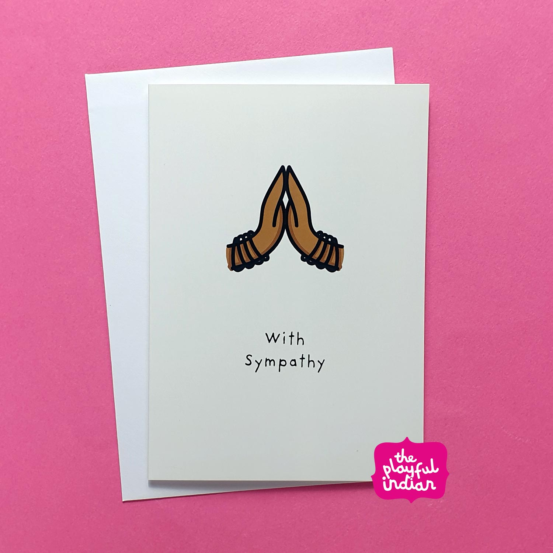 desi indian asian sympathy card