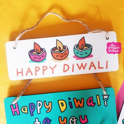 diwali hanging sign