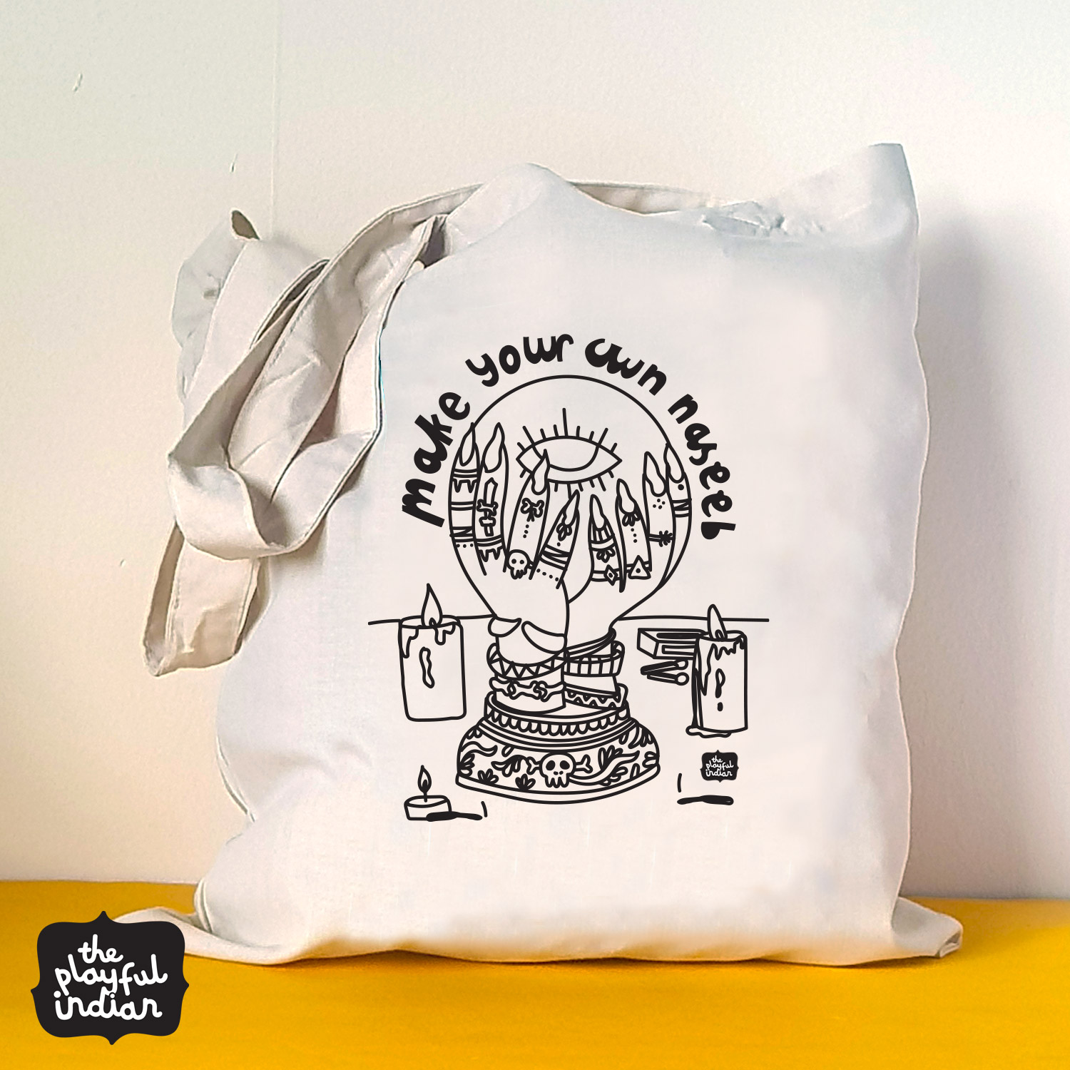 make your own naseeb halloween spooky tote bag