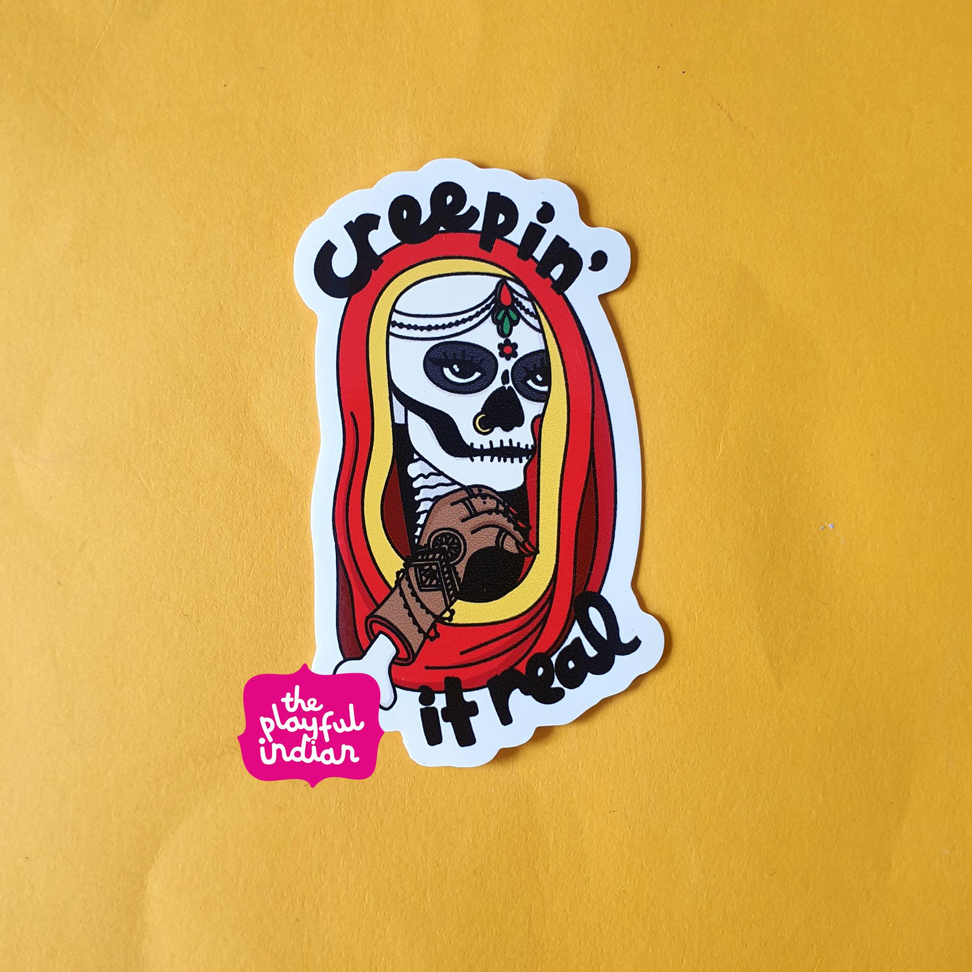 Creepin' It Real Vinyl Sticker