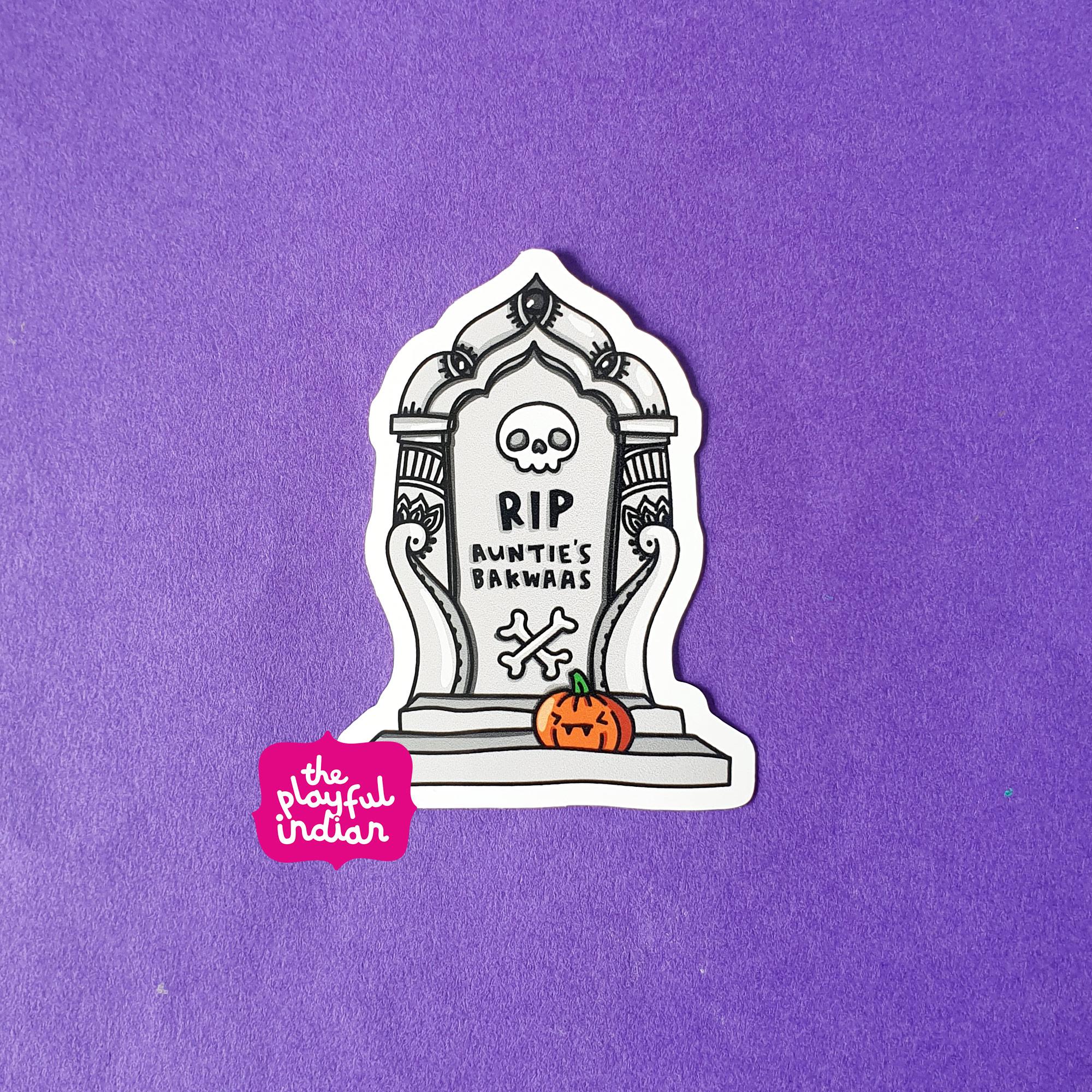 RIP Aunties Bakwaas Vinyl Sticker
