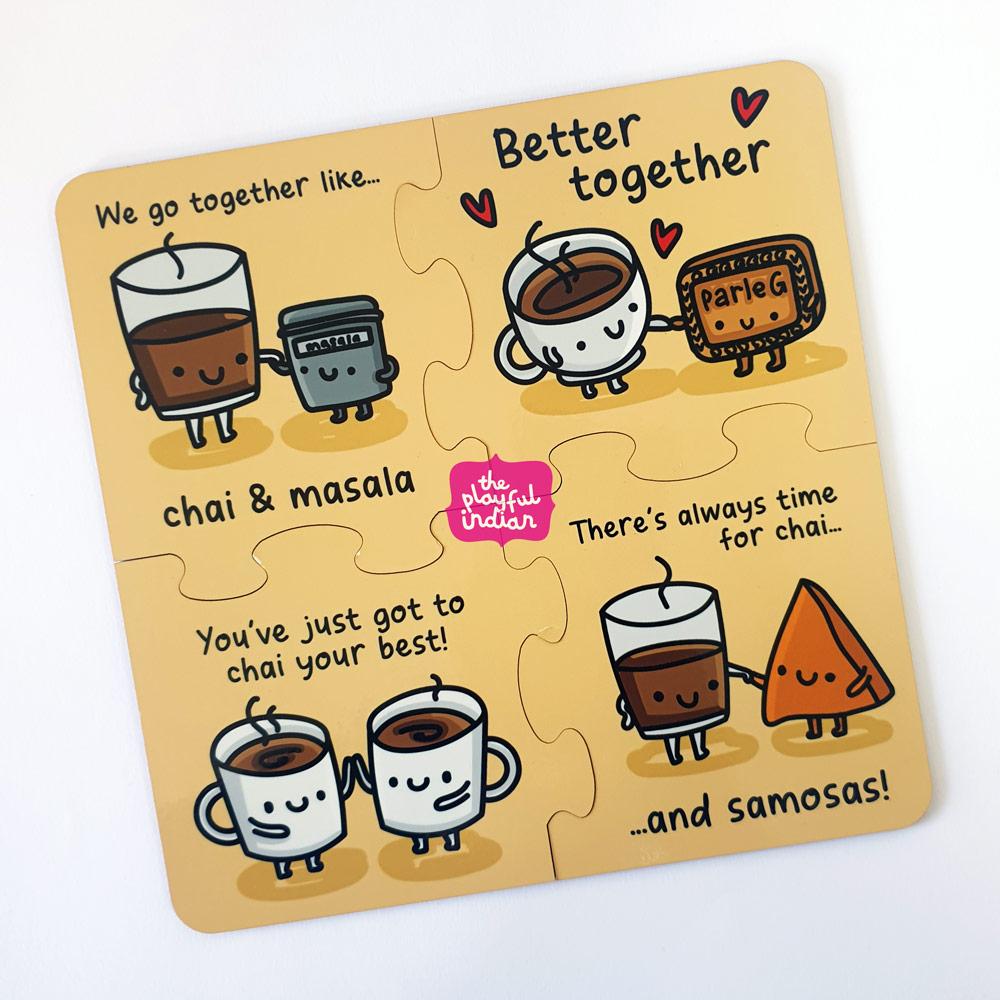 chai and coasters