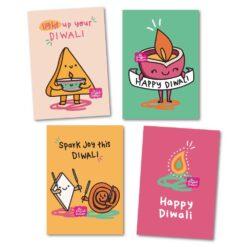 diwali card pack