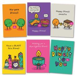 Pack of 6 Diwali Cards